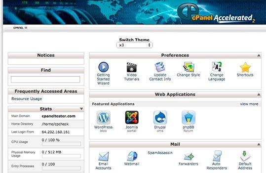 Cpanel Hosting Elastic Data Centers